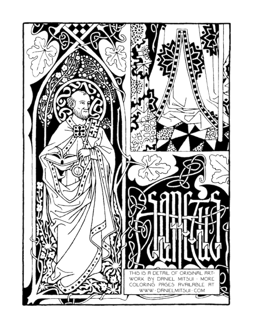 Illumination coloring page by Daniel Mitsui