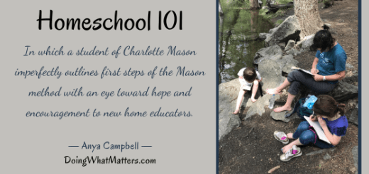 How to homeschool the Charlotte Mason Way by Anya Campbell