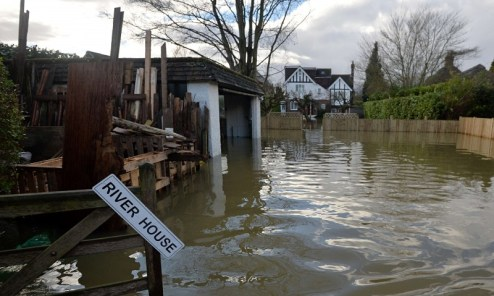 Flooding in Wraysbury