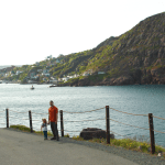 Sébastien and Amélie walking back from Fort Amherst