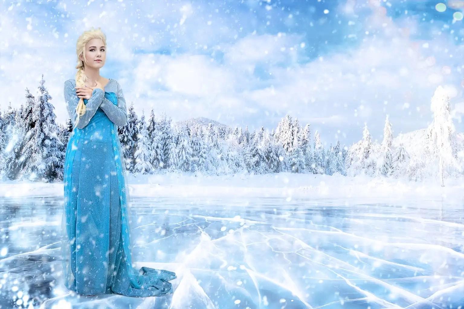 Il cosplay di Elsa la principessa di ghiaccio