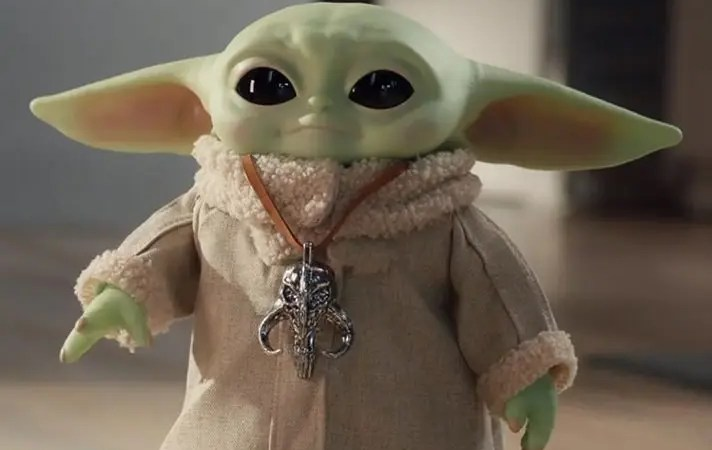 Il vostro dolcissimo Baby Yoda elettronico!