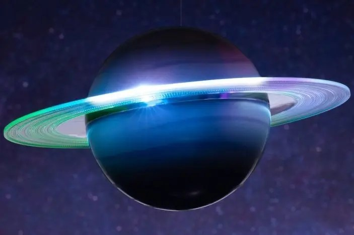 Saturno diventa una lampada!