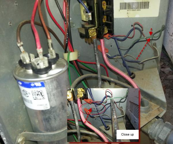 12587d1368463142 york h1ra042s06d home ac issues ac issues?resize=600%2C498 hvac how to replace the run capacitor in the compressor unit run capacitor wiring diagram air conditioner at soozxer.org