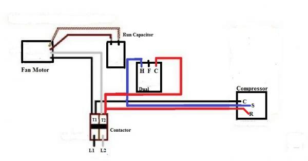 how to wire a condenser fan motor capacitor dual capacitor fan switch wiring diagram ac dual capacitor wiring diagram