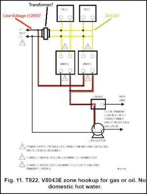 Honeywell Zone Control Valve V8043E1012 Connect to Line