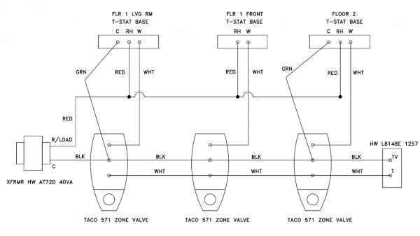 Multiple Zones On A Hot Water Boiler Piping Diagrams