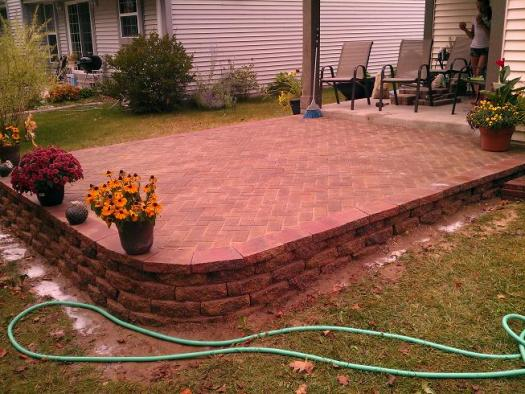 Patio pavers on a slope on Patio On A Slope Ideas id=36193