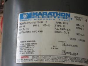 Marathon 12 hp electric motor  DoItYourself Community Forums