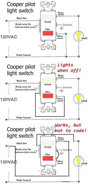 13063d1369407176 changing single pole light switch switch pilot light cooper3 two pole switch wiring diagram efcaviation com two single pole switch wiring diagram at readyjetset.co