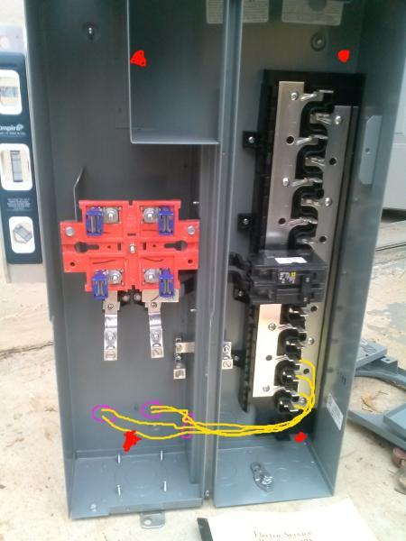 Meter Breaker Combo Romex Through Meter Section Into