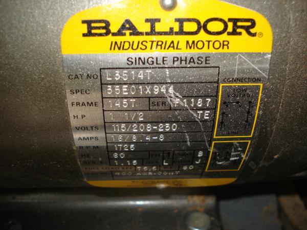 Wiring A Drum Switch To A 208 Disk Sander