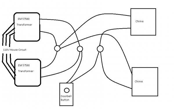wiring 2 chimes doorbell circuit diagram doorbell wiring 2 chimes wiring diagram