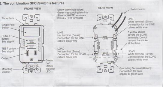 wiring leviton switch/gfi outlet combo  doityourself