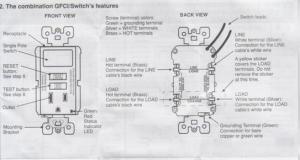 Wiring Leviton switchGFI outlet bo  DoItYourself