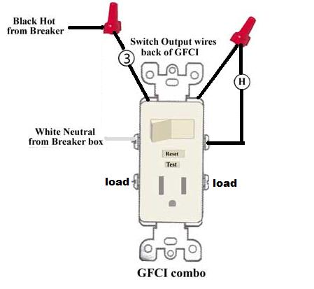 leviton gfci outlet switch combo wiring diagram