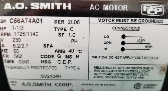 need help wiring ao smith motor  doityourself community