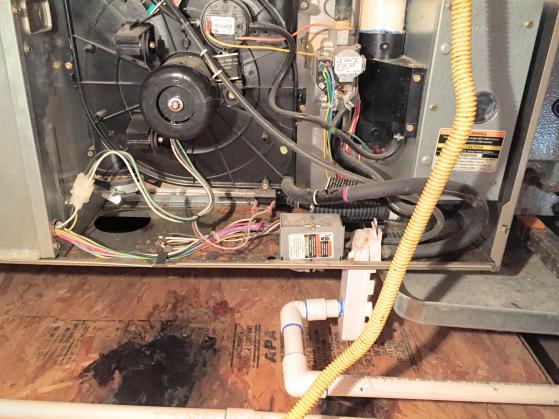Blower Water Leak In Attic Furnace