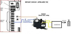 Connect Aprilaire 760 to Bryant 95S  DoItYourself