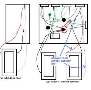 3way Bathroom Fan Wiring Help  DoItYourself