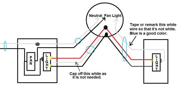 How To Wire A Ceiling Fan Light 3 Way And Separately