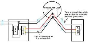 Ceiling Fan, 3 way light, single switch fan, existing