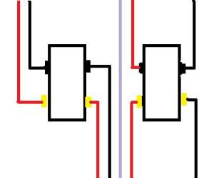 4 Way switch circuit with multiple lights in middle