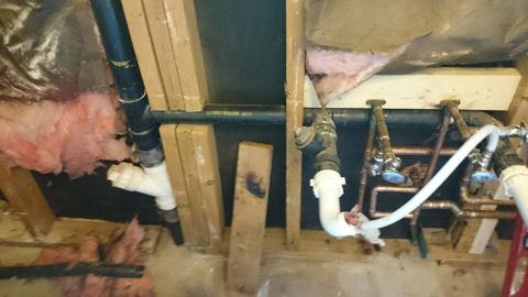 sink drain cleanout relocation problem