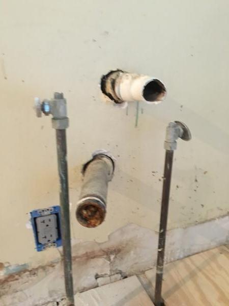 2 separate drain lines under kitchen