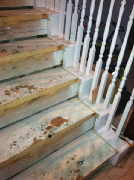 Gaps In Stair Skirting When Replacing Carpeted Stairs With | Changing Carpeted Stairs To Hardwood