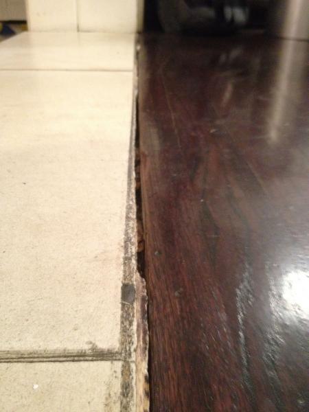 Wood Floor Into Stone Transition Doityourself Com