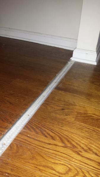 Repair Engineered Hardwood From Metal Threshold And Tack