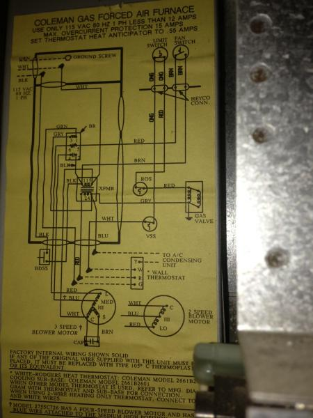 Rewiring Old Coleman Furnace For Filtrete 3m50 Thermostat