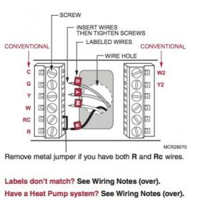 Replacing Honeywell CT3611 with RTH7600D thermostat on