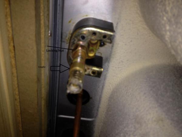 cant remove kitchen faucet coupler