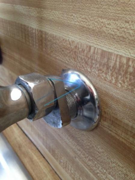 no water shut off valve underneath sink