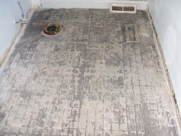 wood subfloor bathroom redo