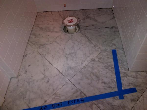 marble sealing before or after