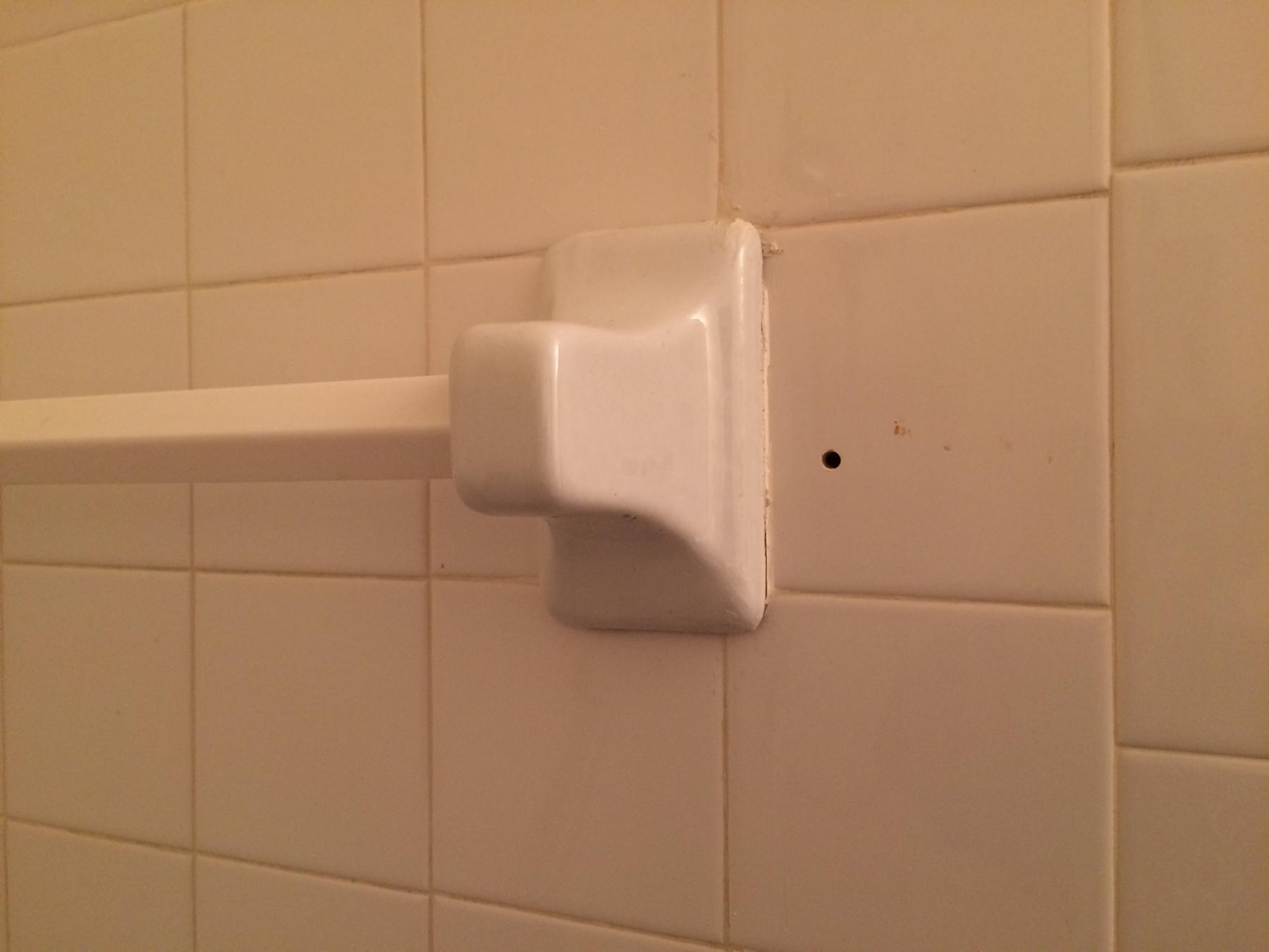 ceramic towel holder removal