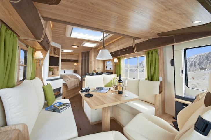 Swiss Chalet Style Motorhome Conjures A Ski Lodge