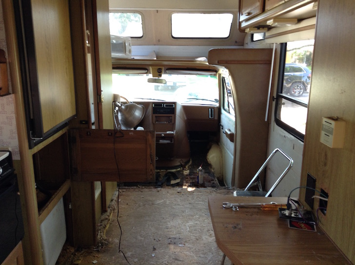 Fine Artists Rustic Renovation Of 20 Foot Winnebago Motorhome