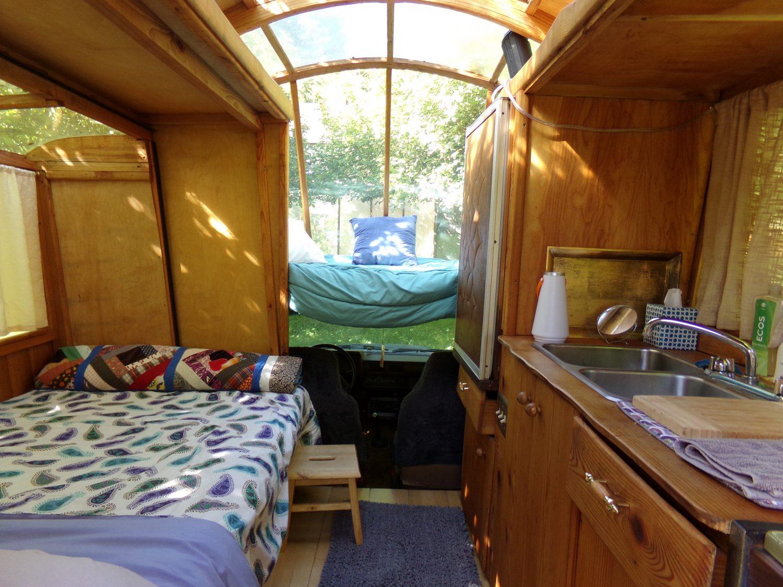 Gypsy Wagon Build By SunRay Kelley Interior Photo Tour