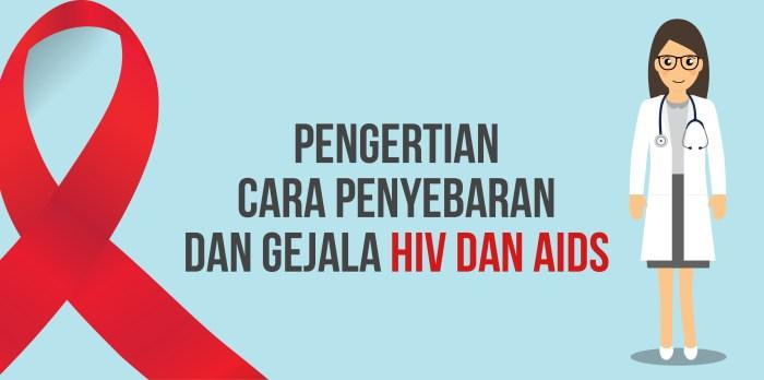 Pengertian, Cara Penyebaran dan Gejala HIV dan AIDS