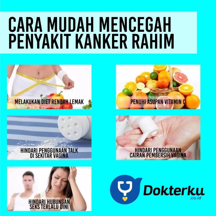 Cara Mudah Mencegah Penyakit Kanker Rahim