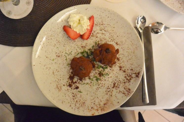 Choco-Trüffel-Eis mit Trüffel bianchetto