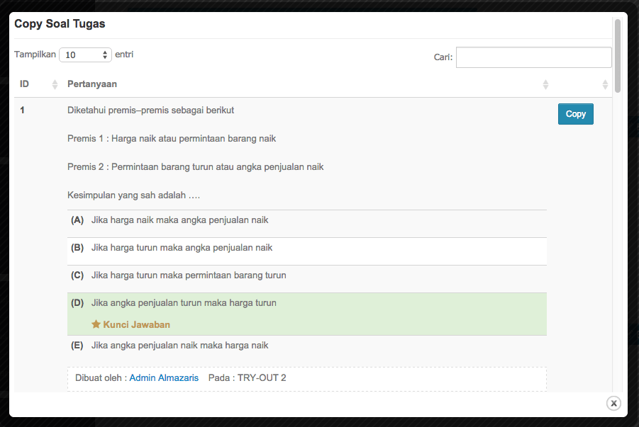 plugin elearning bank soal
