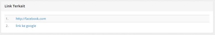 plugin link terkait