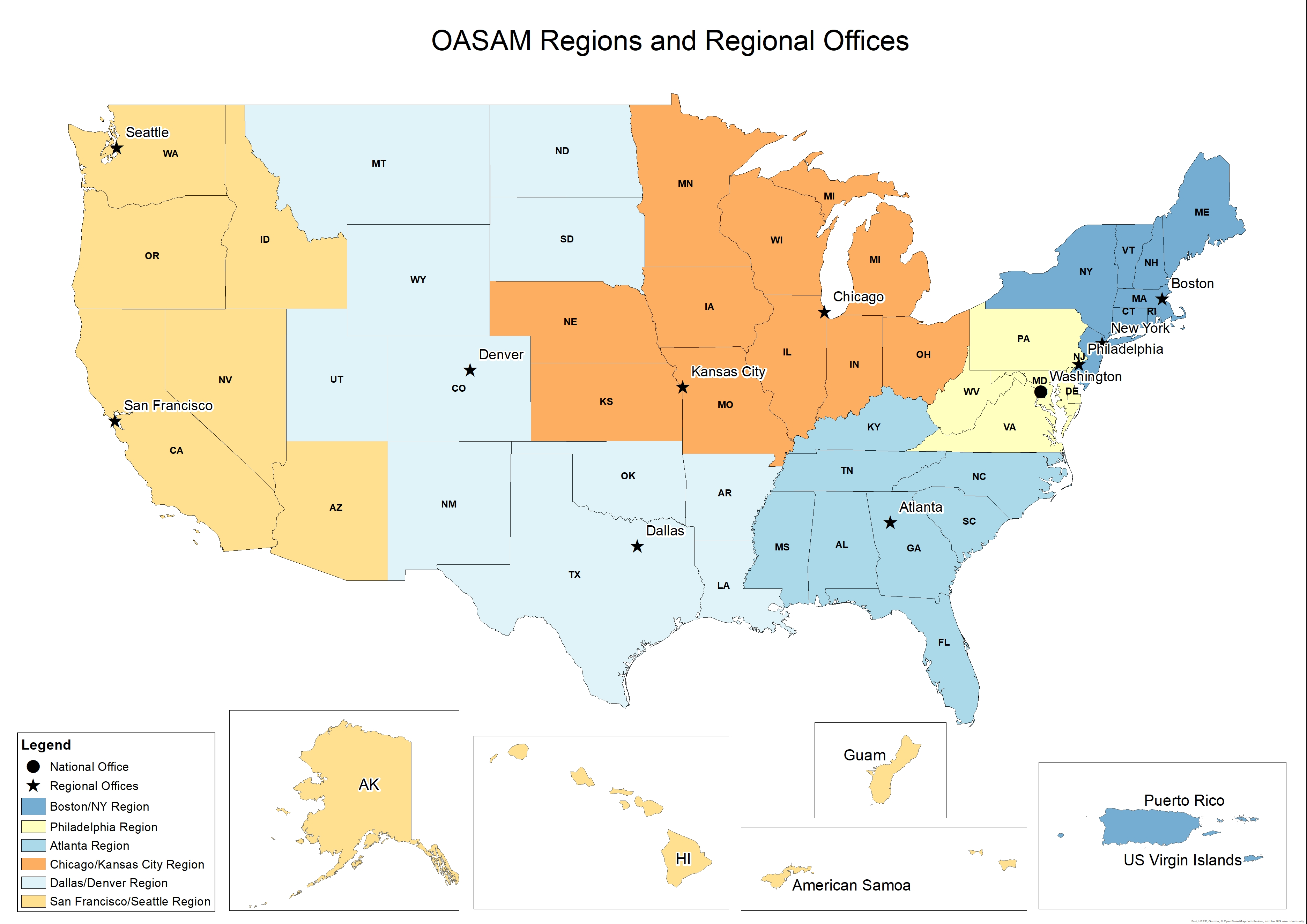 Regional Offices Map