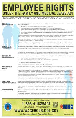 and medical leave act fmla poster