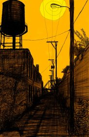 Alley Study 15 with Water Tower